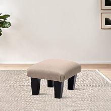 Livingandhome - Small Footstool Linen Fabric