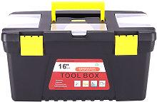 Livingandhome - T16 Plastic Tool Box Lockable