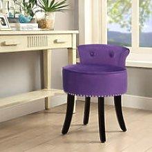 Livingandhome - Velvet Dressing Table Chair Vanity