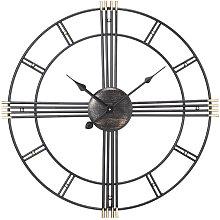 Livingandhome - Vintage Metal Wall Clock 50cm