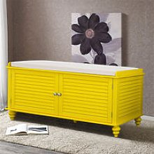 Livingandhome - Window Bench Shoes Cabinet Storage