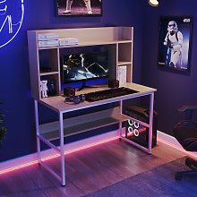 Livingandhome - Wooden Corner Computer Desk Laptop