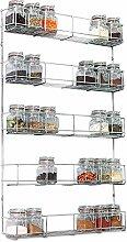 LIVIVO Chrome Spice Herb Jar Rack 40cm Wide Holder