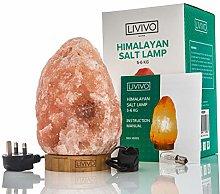 LIVIVO Natural Himalayan Rock Salt Lamp with