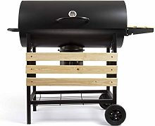 Livo DOC206 Wooden Barbecue with Lid and 2 Storage