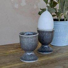 livs - Egg Cup Mottled Grey Ceramic