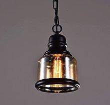 LIXAMP Nordic Glass Wine Bottle Hanging Lamp