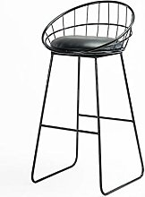 LIYG Bar bar stool, high stool chair creative net