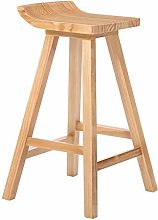 LIYG Simple High Stool Solid Wood Bar Chair Home