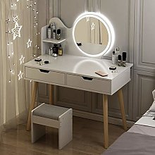 LIYIN Dressing Table with Mirror and Stool,