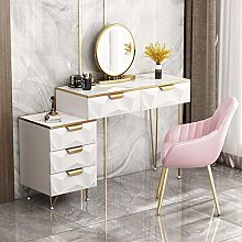 LIYIN Makeup Dresser Desk, LED Touch Round Lighted