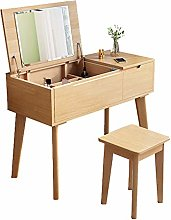 LIYIN Makeup Dressing Table with Mirror, Cushioned