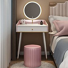 LIYIN Vanity Table Set, LED Lighted Mirror and