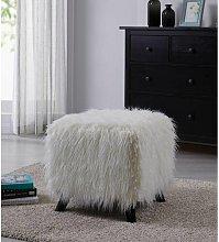 Liyuan Cube Rosdorf Park Upholstery Colour: White