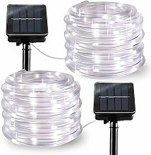 LiyuanQ Solar String Lights Outdoor Rope Lights, 2