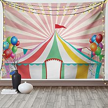 LizaCheng Circus Tapestry Pastel Old Style Vintage