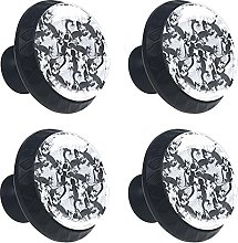 Lizards and Palm Leaves 4PCS Round Drawer Knob