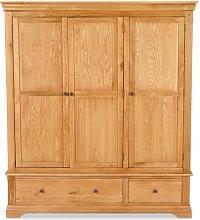 Lizbeth 3 Door Wardrobe Union Rustic