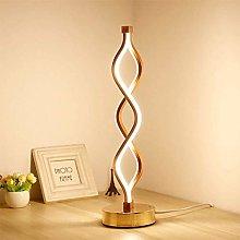 LJ Desk Lamps,Modern Led Table Lamp Spiral Acrylic