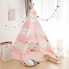 LJ Kids Teepee Tent for Kids,Canvas Tent Toy Play