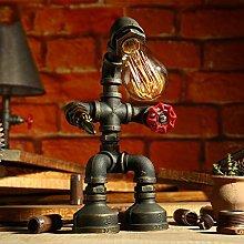 LJ Retro Industrial Iron Desk Lamp, Led Eye