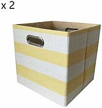 "LJ Stool 11.4 ""Cube Fabric Storage Boxes,"