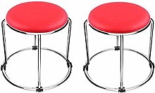 LJ Stool Stackable Small Pu Round Stool, Stainless