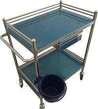 LJHU Trolley Stainless Steel Medical Utility Cart,