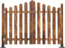 LJIANW Garden Fencing, Fence Wooden Door For