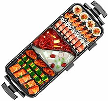 Ljings Electric Hot Pot Grill Indoor 2 in 1