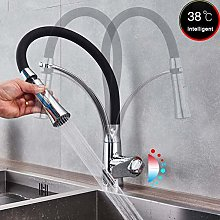 LJJ Faucets Single Lever Kitchen Mixer with Black