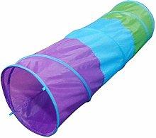 LJJLJJ Kids Play Tent, Children Tricolor Tunnel