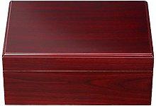 LJMG Humidors Solid Wood Cigar Humidor, Portable