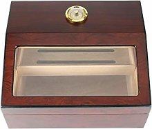 LJMG Humidors Solid Wood Cigar Humidor With Glass