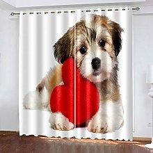 LJUKO Nursery Blackout Curtains Animals Hearts