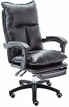 LJWJ Leather Desk Gaming Chair, with Footrest