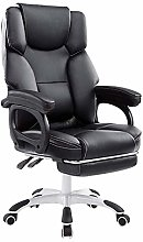 LJWJ Leather Desk Gaming Chair with Footrest