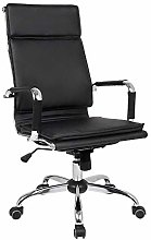 LJWJ Leather Desk Gaming Chair, with Recline
