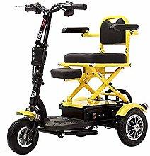 LJWJ Lightweight Wheelchair Compact Folding