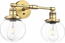 LJWJ Wall Lamp Double Industry Retro Wall