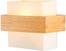 LJWJ Wall Lamp Home Modern Minimalist Wooden