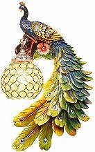 LJWJ Wall Lamp Peacock Design Decoration Night