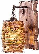 LJWJ Wall Lamp Wooden Downlight Retro Do The Old