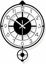 LJXLXY Black and White Pendulum wall Clock Used
