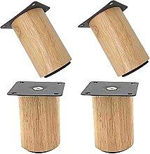 ljyasd Furniture Legs, Round Solid Wood Furniture
