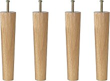 ljyasd Set Of 4 Solid Wood Furniture Legs, Sofa