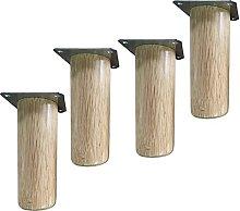 ljyasd Wood Furniture Legs, Cylinder Tapered Sofa