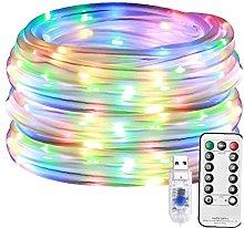 LjzlSxMF String Lights LED Rope Lights Solar Fairy