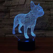 LKAIBIN French Bulldog Pattern 7 Colors Changing
