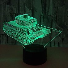 LKAIBIN Tank LED Colorful Gradient 3D Stereo Table